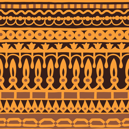 stripe pattern: Ethnic seamless stripe pattern. Vector illustration for your cute design. Borders and frames.