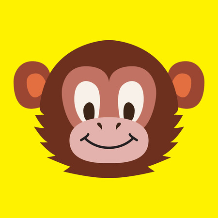 male face: Monkey head - vector illustration