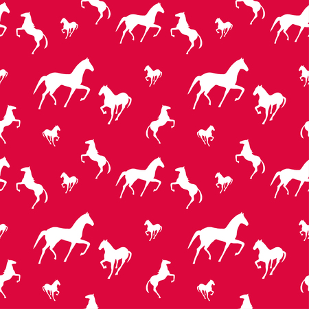 Horses seamless pattern. Endless texture can be used for wallpaper, pattern fill, web page background.