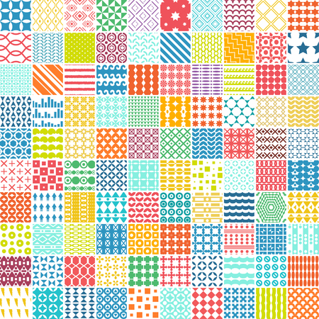 100 seamless pattern. Vector pattern. Endless texture can be used for printing onto fabric, paper or scrap booking, wallpaper, pattern fills, web page background, surface texture. Illustration