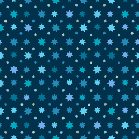 cerulean: Abstract Seamless Pattern with stars. Endless texture can be used for wallpaper, pattern fills, web page background, surface texture.