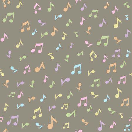 trill: Abstract music seamless pattern background vector illustration for your design. Vector seamless pattern. Illustration