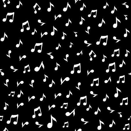 Abstracte muziek naadloze patroon achtergrond vector illustratie voor uw ontwerp. Vector naadloos patroon.
