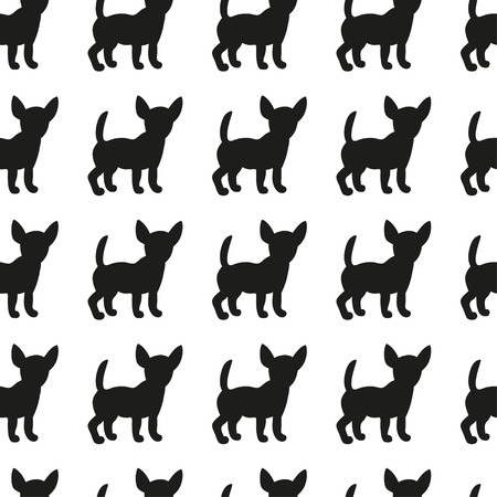 imprints: Seamless pattern with dog silhouettes. Vector background for your design.