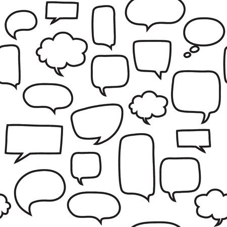 burbuja: Patrón sin fisuras con las burbujas del discurso. El diseño hermoso del vector.