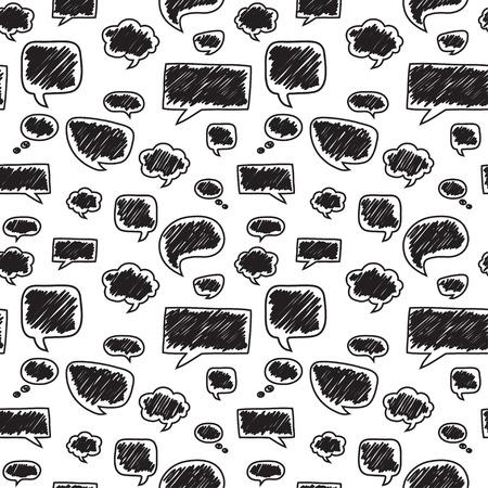 Naadloos patroon met tekstballonnen. Prachtige vector ontwerp.