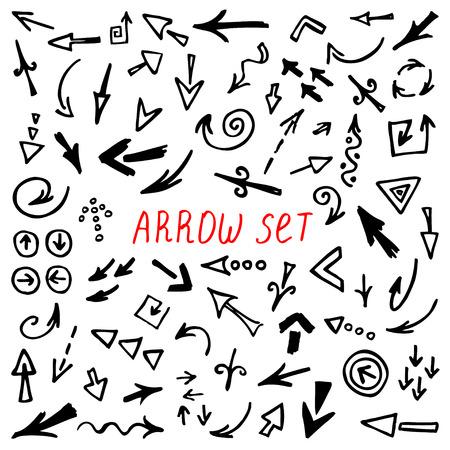runaway: Arrows Doodle Set, hand drawn arrows set, sketched style