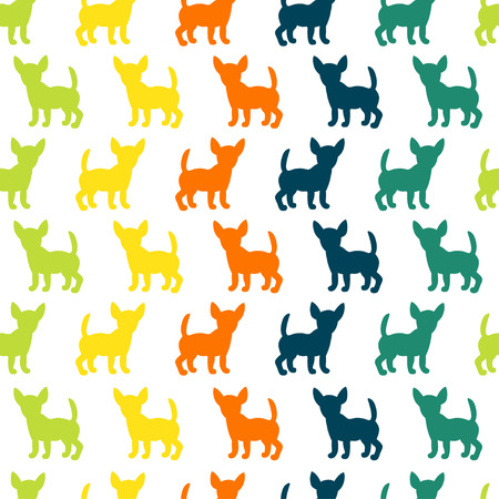 Seamless pattern with dog silhouettes. Vector background for your design.