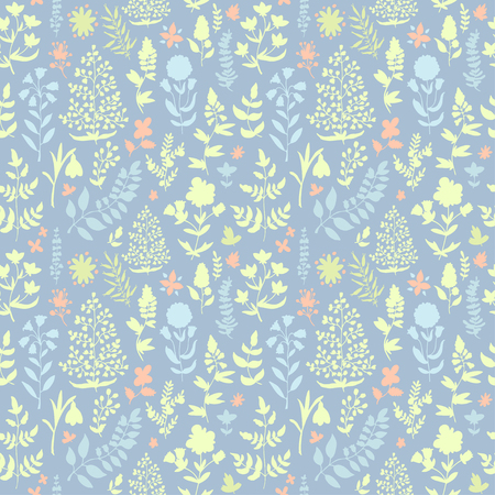 springtime: Floral seamless pattern. Seamless pattern can be used for wallpaper, pattern fills, web page background, surface textures