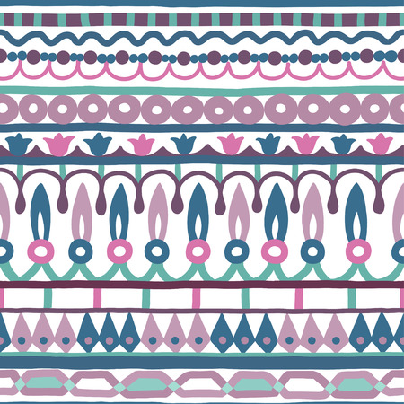 terracotta: Ethnic seamless stripe pattern. illustration for your cute design. Borders and frames.