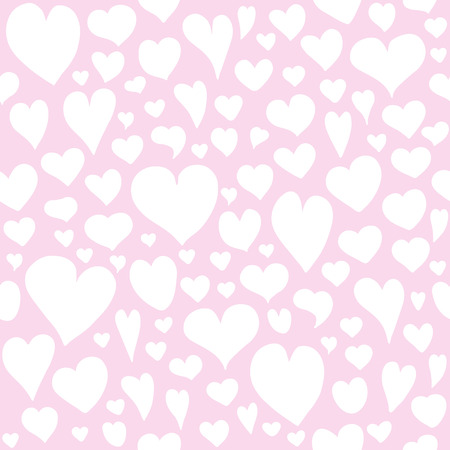 Hearts seamless pattern. Valentines day background. Endless texture for wallpaper, fill, web page background, surface texture. Illustration