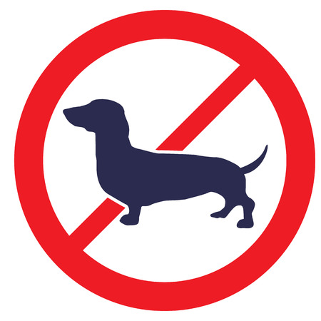 obey: No Dogs allowed sign Illustration