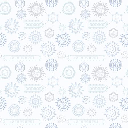 Naadloos patroon met virussen. Endless textuur voor de achtergrond, vullen, webpagina achtergrond, oppervlaktestructuur.