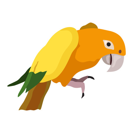 Parrot Bird Vector Illustration for your cute design.