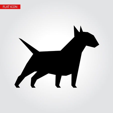 Bull terrier dog vector black silhouette. Vector illustration for your cute design. Illustration