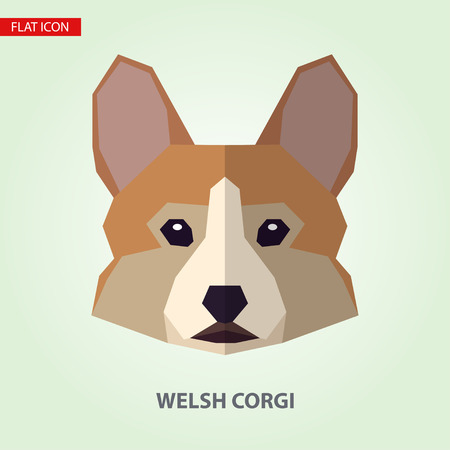 Welsh corgi head vector illustration. It can be used as - logo, pictogram, icon, infographic element. Illustration