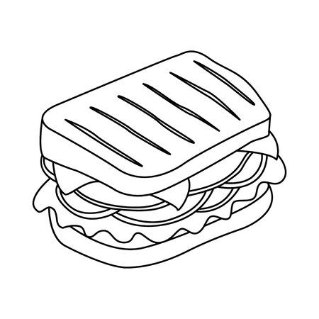 Sandwich-Vektor-Symbol. Design-Elemente.