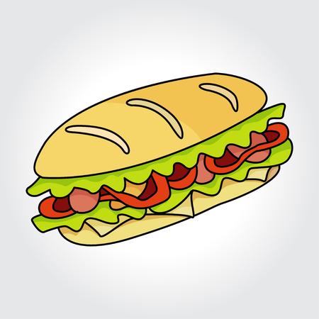サンドイッチのベクター アイコン。デザイン要素です。  イラスト・ベクター素材