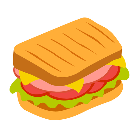 peppar: Sandwich vector icon. Design elements.
