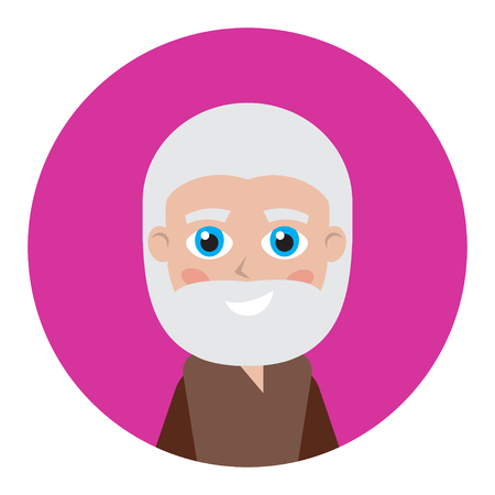 Man icon for avatar. Cartoon character collection. It can be used as - logo, pictogram, icon, infographic element.