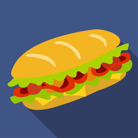 Icono de vector de sandwich. Elementos de diseño. Foto de archivo - 81387388