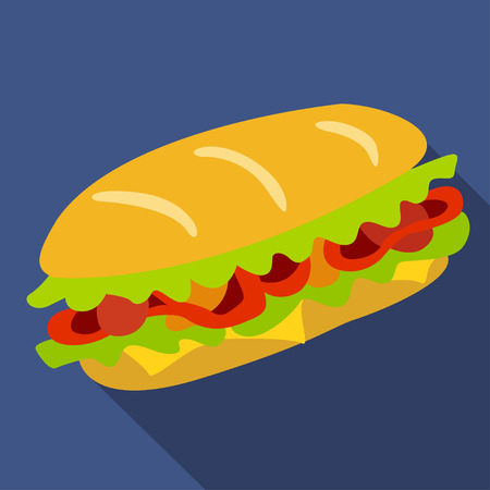 Sandwich vector icon. Design elements.