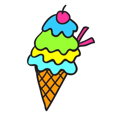 Ice cream vector icon. Design elements.