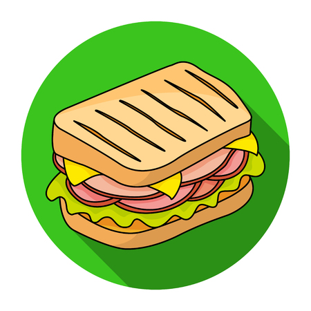 raw materials: Sandwich vector icon. Design elements.