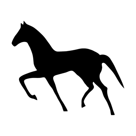 Vector illustration of horse silhouette. It can be used as - logo, pictogram, icon, infographic element.