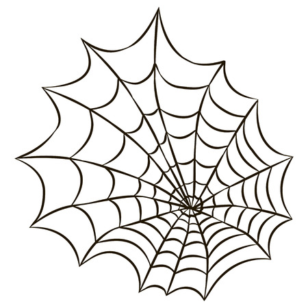 Halloween black spider web