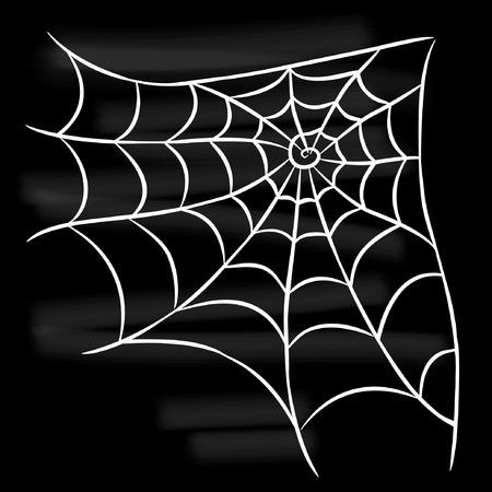Halloween white spider web