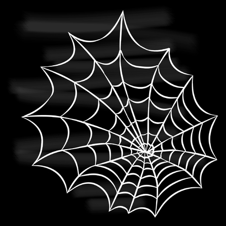 Halloween white spider web