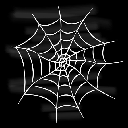 Halloween witte spinnenweb Stock Illustratie