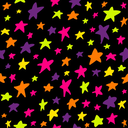 Seamless pattern with night sky and stars. Can be used for textile, website background, book cover, packaging.
