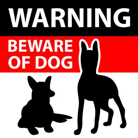 Méfiez-vous du signe de chien . illustration pour votre conception mignonne Banque d'images - 90503377