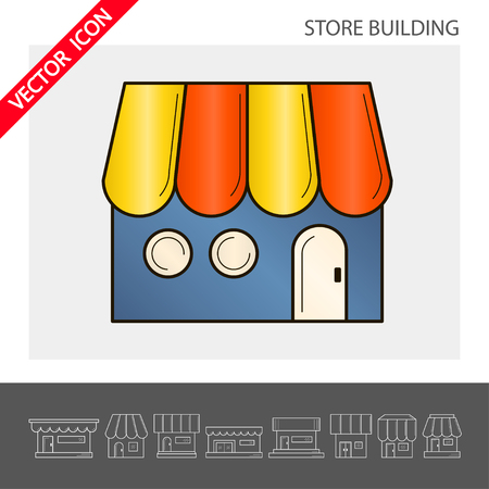 Store icon. It can be used as - logo, pictogram, icon, infographic element. Vector illustration for your cute design.