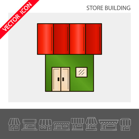 Store icon. It can be used as - logo, pictogram, icon, infographic element. Vector illustration 向量圖像