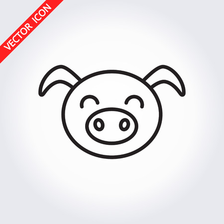 Pig head icon. It can be used as - logo, pictogram, icon, infographic element. Vector illustration for your cute design.