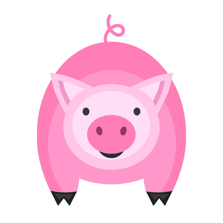 Cute pig icon. Vector illustration for your cute design. Vettoriali