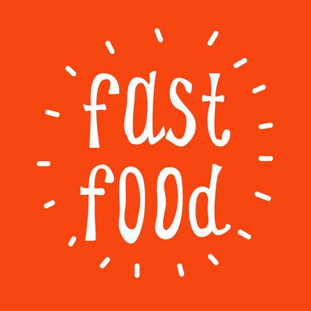 Fast food vector text. Design elements.