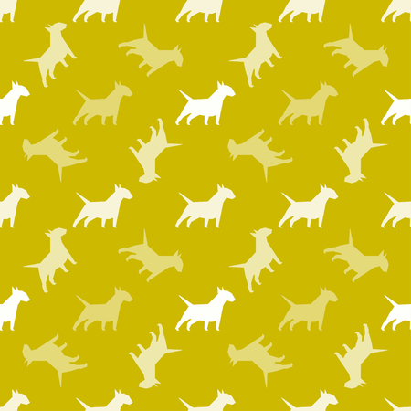 Seamless pattern with dogs. Endless texture can be used for wallpaper, pattern fills, web page background, surface textures.