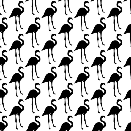 Vector seamless pattern with flamingo bird. Can be used for textile, website background, book cover, packaging. Ilustração