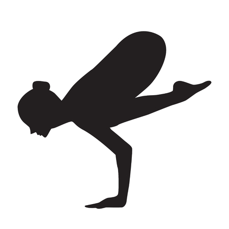 Girl yoga silhouette. It can be used as - logo, pictogram, icon, infographic element.