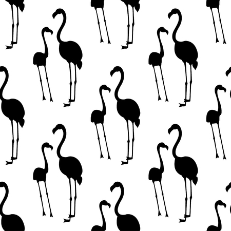 Vector seamless pattern with flamingo bird. Can be used for textile, website background, book cover, packaging. Illustration