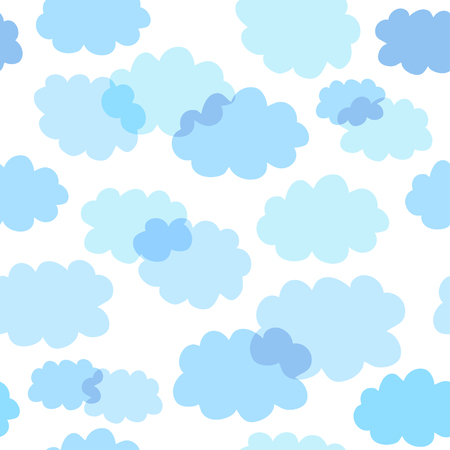 Seamless pattern with cute clouds. Childrens shiny background. Endless texture can be used for wallpaper, pattern fills, web page background, surface texture.