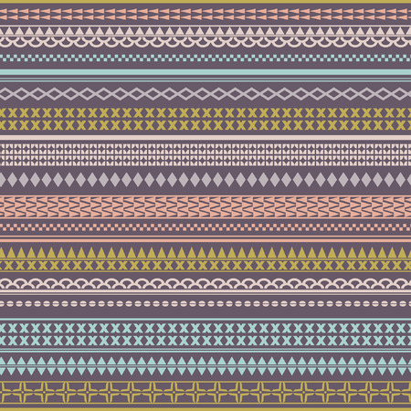 stored: Seamless tribal texture. Vintage ethnic tribal seamless texture. Striped vintage boho style.Pattern stored in the palette swatches
