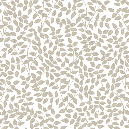 twigs: Seamless patterns from leaves and twigs. Vector illustration