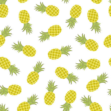 Cartoon fruits hand draw seamless pattern. Organic healthy food in scandinavian style. Use for textile, print, surface design, fashion kids wear