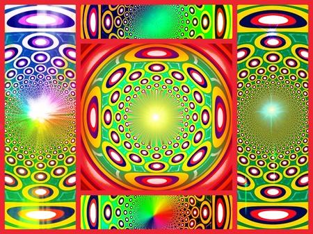Paz espiritual. Collage. Mandala Foto de archivo - 9583775