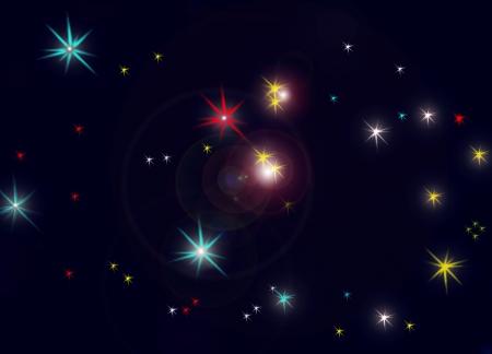 Constelación de Pegaso Foto de archivo